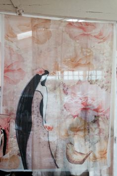 Love and beauty shear curtain Shear Curtains, Studio, Painting, Beauty, Design, Products, Art, Art Background, Painting Art