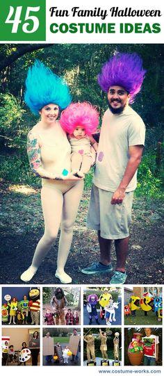 45 Fun DIY Family Halloween Costume Ideas