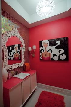 wouldn't this make an amazing powder room for my teen girls???