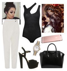 """""""Untitled #2818"""" by outfitstowear ❤ liked on Polyvore featuring Alix, Topshop, Givenchy, Office and Rolex"""