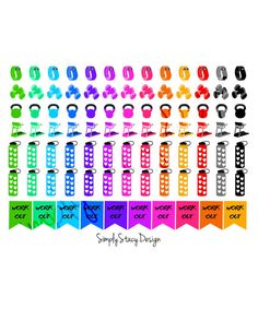 This listing is for printable Erin Condren Planner stickers! - WHAT I AM GETTING - a variety of work out stickers designed to fit the Erin