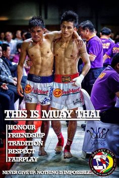 This is Muay Thai.
