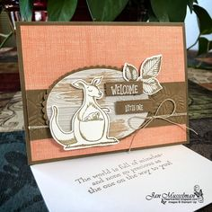 - Animal Outing - Stitched All Around - Rooted in Nature - Pinewood Planks - Layering Ovals Framelits Baby Cards, Kids Cards, Stampin Up Catalog, Animal Cards, Scrapbook Cards, Scrapbooking, Stamping Up, Creative Cards, Stampin Up Cards