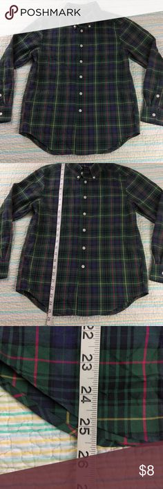 SOLD Ralph Lauren Boys M Button Down Green Plaid Ralph Lauren Boys Long Sleeve Button Down Green Plaid Shirt Size M (10-12) Ralph Lauren Shirts & Tops Button Down Shirts