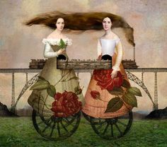 View Paradise Train by Catrin Welz-Stein and purchase the artwork as fine art print, canvas and framed wall art Art And Illustration, Surrealism Painting, Pop Surrealism, Art Magique, Art Du Collage, Wall Art Prints, Canvas Prints, Buy Prints, Art Terms