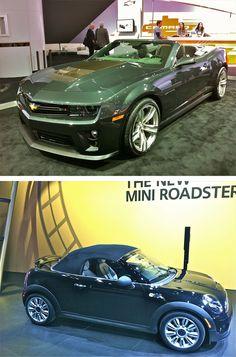 Hot: Chevy Camaro ZL-1 / Not: Mini Roadster #NAIAS http://vnty.fr/w9L4G6