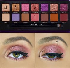 Another Anastasia Beverlyhills Norvina palette pictorial. The shade that sold be… Another Anastasia Beverlyhills Norvina … Makeup City, Can Makeup, Sexy Makeup, Makeup Inspo, Rose Gold Eyeshadow, Rose Gold Makeup, Eyeshadow Makeup, Bright Eye Makeup, Colorful Makeup