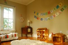 Such a gorgeous Waldorf-inspired room. I want B to make a wooden dollhouse like…