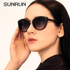 SUNRUN The New Cat's Eye Sunglasses Woman Luxury Original sunrun Brand Designer Glasses Vintage Retro Woman Oculos De Sol 9718