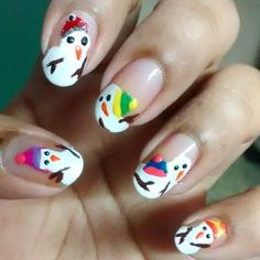 Nailpolis Museum of Nail Art   Melted Snowman..!!! by Sohini  Sengupta