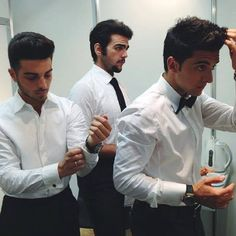 "Il Volo: ""Getting ready, the show is up to start!  7/23/14  LOVE this picture ~ #pierobarone #gianlucaginoble and #ignazioboschetto ♥♫♪♥"