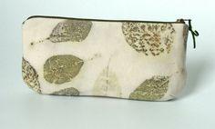 Cotinus Leaves Purse  Eco printed Clutch  Handmade by alabatis