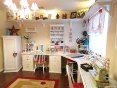 craft room ideas | Offices + Craft Rooms