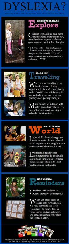 Dyslexia Tips www.DyslexiaGames.com #Dyslexia Strategies