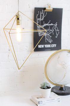 DIY HOME   Brass Himmeli Light   I SPY DIY