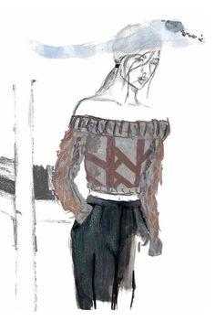Fashion Sketchbook - fashion illustration; fashion design portfolio // Franzine Permejo