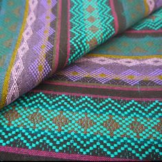 Tribal Fabric Latin American Navajo Neon fabric...this would be an awesome scarf!