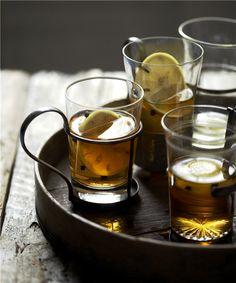 Tea and lemon...