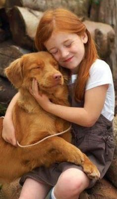 Cute girl and her dog...