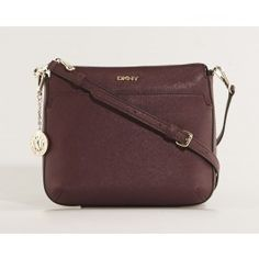 We just love this color for fall - DKNY Top Zip Crossover Taske Bordeaux