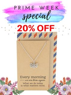 We are giving 20% discount on our best-selling Yoga Jewelry for those with Amazon Prime account. Click this pin to purchase!