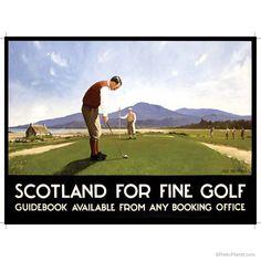 Retro Scotish Golf Scotland Metal Sign RetroPlanet.com $15