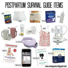 The best postpartum survival guide you'll need after baby. All the items you'll need to survive the first few weeks after delivery.