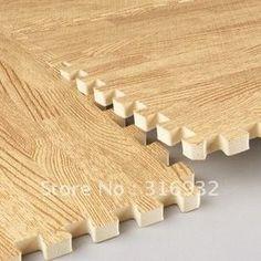 Tapete tatame madeira piso casa kit com 4 peças 60x60x10