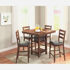 High Top Dining Table Chairs Kitchen Dining Cherry Wood High Top - Cherry wood high top kitchen table