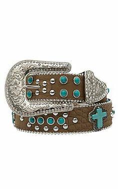 Blazin Roxx® Ladies Turquoise Stone Western Belt N3516044 | Cavenders Boot City