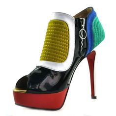 Christian Louboutin  Futura 140mm Ankle Boots Multicolor123 hunting for limited offer,no duty and free shipping.#shoes #womenstyle #heels #womenheels #womenshoes  #fashionheels #redheels #louboutin #louboutinheels #christanlouboutinshoes #louboutinworld