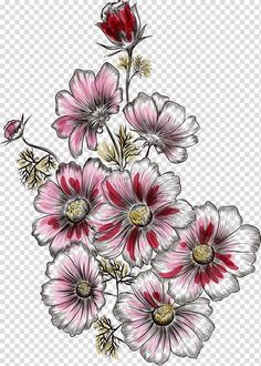 Images: search for similar images Leaf Flowers, Botanical Flowers, Flowers Nature, Botanical Prints, Floral Prints, Flower Tattoo Designs, Flower Designs, Pattern Art, Print Patterns