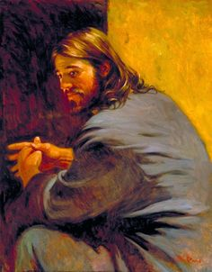 Christ by Walter Rane. Images of Jesus.which do you connect with? Paintings Of Christ, Jesus Painting, Spiritual Paintings, Pictures Of Christ, Jesus Christ Images, Lds Art, Bible Art, Bible Scriptures, Catholic Art