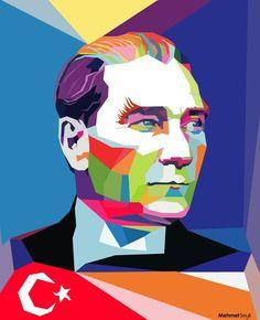 Mustafa Kemal Atatürk - Poly & Pop Art