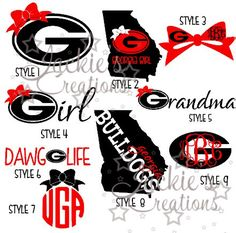 Georgia Bulldogs G-IRL Vinyl Decal UGA Georgia Girl Car Sticker PICK A SIZE!