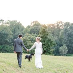 Is there anything sweeter than a furry friend involved in a couple's big day? He looks so happy to be in the photo! Photo by: @theletterb_photography // See this post on Instagram: http://ift.tt/2krdEhO