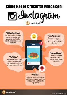 Cómo hacer crecer tu marca en Instagram #infografia #infographic #marketing #socialmedia