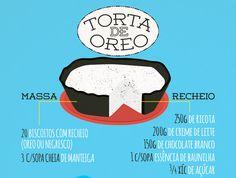 RECEITA-ILUSTRADA 136: Torta de Oreo com recheio de ricota http://mixidao.com.br/receita-ilustrada-136-torta-de-oreo/