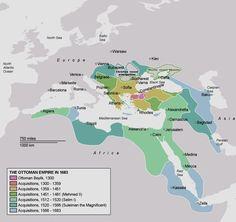 Ottoman Empire Map under Sultan Suleiman The Magnificent Rule Sultan Suleyman, Empire Ottoman, Turkish People, North Europe, Empire Romain, Bagdad, North Sea, Baltic Sea, Historical Maps
