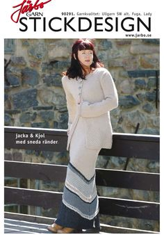 Knitted jacket with matching skirt.
