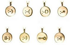 14Kgoldsmileynecklace small Smiley Necklaces   14K gold geek chic