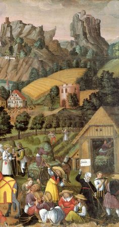 The Augsberg Calendar - June  (1520, Die Augsburger Monatsbilder, Germany, Der Juni)