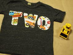 Construction truck birthday shirt bulldozer differ dump truck truck theme birthday party. $27.00, via Etsy.