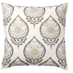 Pottery Barn Anisha Applique Pillow Cover ($70) ❤ liked on Polyvore featuring home, home decor, throw pillows, floral home decor, ivory throw pillows, pottery barn throw pillows, floral throw pillows and cream throw pillows