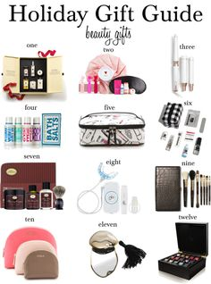 Let's face it, we all need a little bit of help from beauty products in our life. I do not know a single woman who doesn't at least wear li. Holiday Gift Guide, Holiday Gifts, Christmas Gifts, Beauty, Xmas Gifts, Xmas Gifts, Christmas Presents, Beauty Illustration