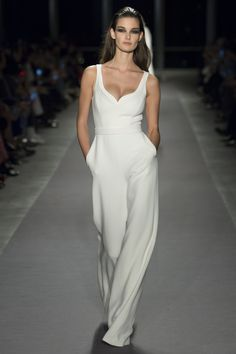 Brandon Maxwell Fall 2017 Ready-to-Wear Fashion Show - Ophelie Guillermand