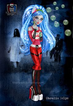 Monster High - Ghoulia Yelps by *kharis-art