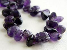 Purple Amethyst Gemstone Necklace by RosesDesigns on Etsy, $37.00