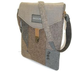 MacBook Sleeve,  With Detachable Strap,Eco Friendly, Recycled Suit Coat. $67.00, via Etsy.