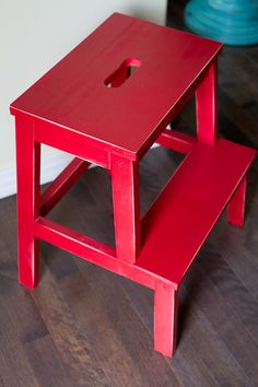 My own project! A simple plan ikea stool turned fab.